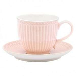 Set Tazzina e Piattino Greengate Alice Pale Rosa