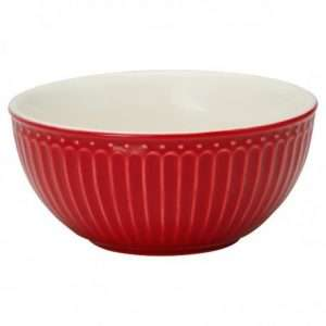 Tazza per Cereali Greengate Alice Pale Rossa XL