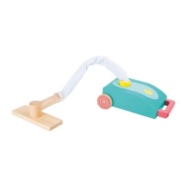 Aspirapolvere in legno per bambini