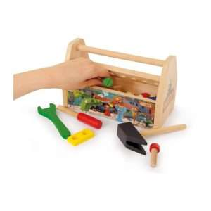 Cassetta degli attrezzi in legno per bambini
