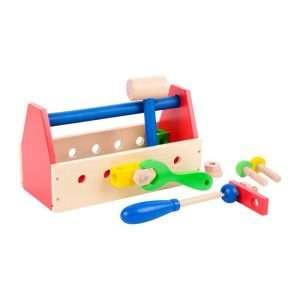 cassetti per utensili colorata in legno