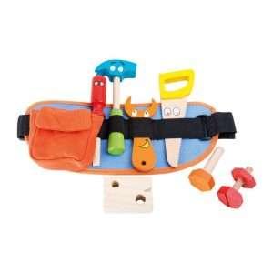 Cintura con attrezzi in legno