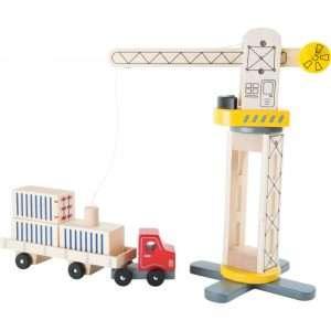 Gru e camion in legno