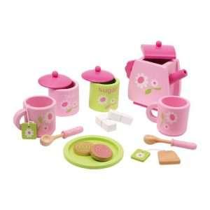 servizio da tè in legno