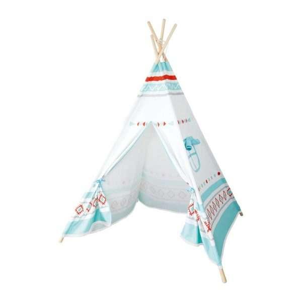 Tenda indiana azzurra