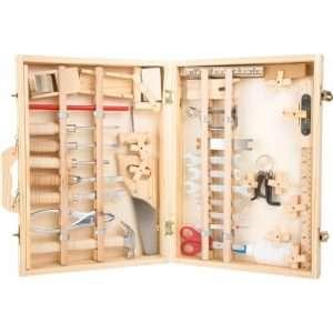 valigia attrezzi deluxe in legno
