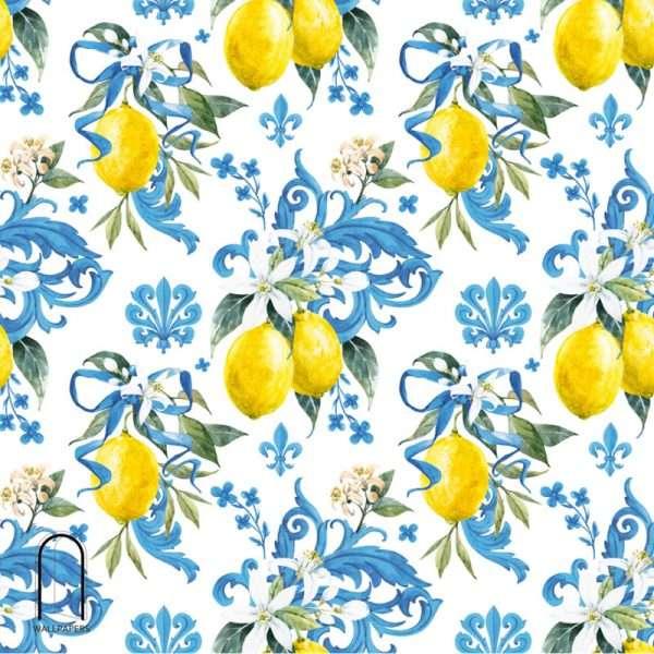 carta da parati limoni