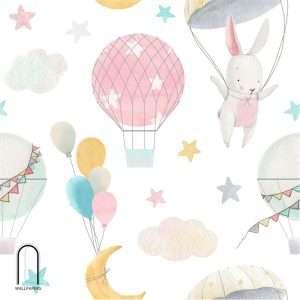 carta da parati per bambini luna