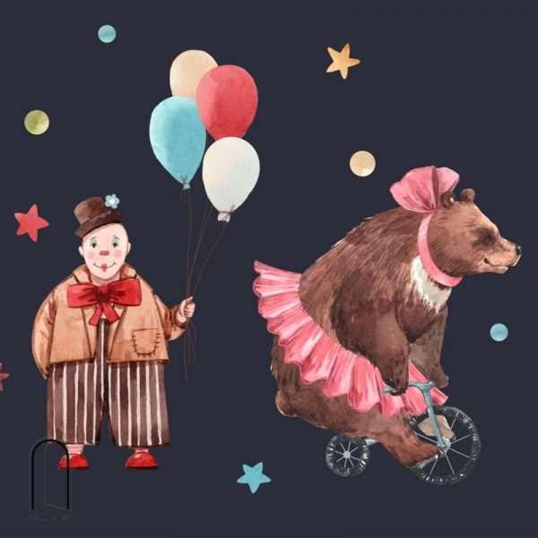 carta da parati per bambini clown al circo