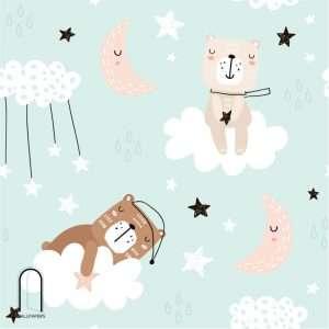 carta da parati orsetti sognatori
