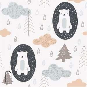 carta da parati per camerette orsi