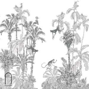 carta da parati savana in bianco e nero