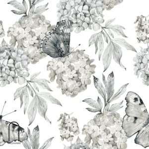 Carta da parati natura in bianco e nero
