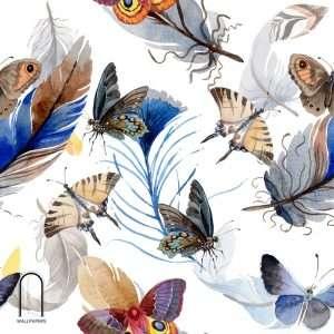 Carta da parati farfalle di fantasia
