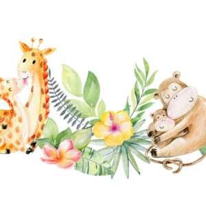 Carta da parati Giraffe innamorate