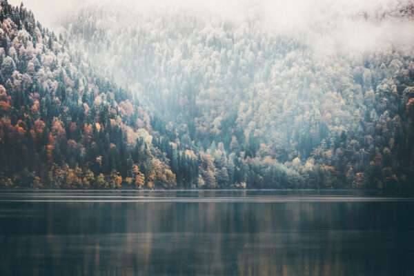 carta da parati lago di montagna